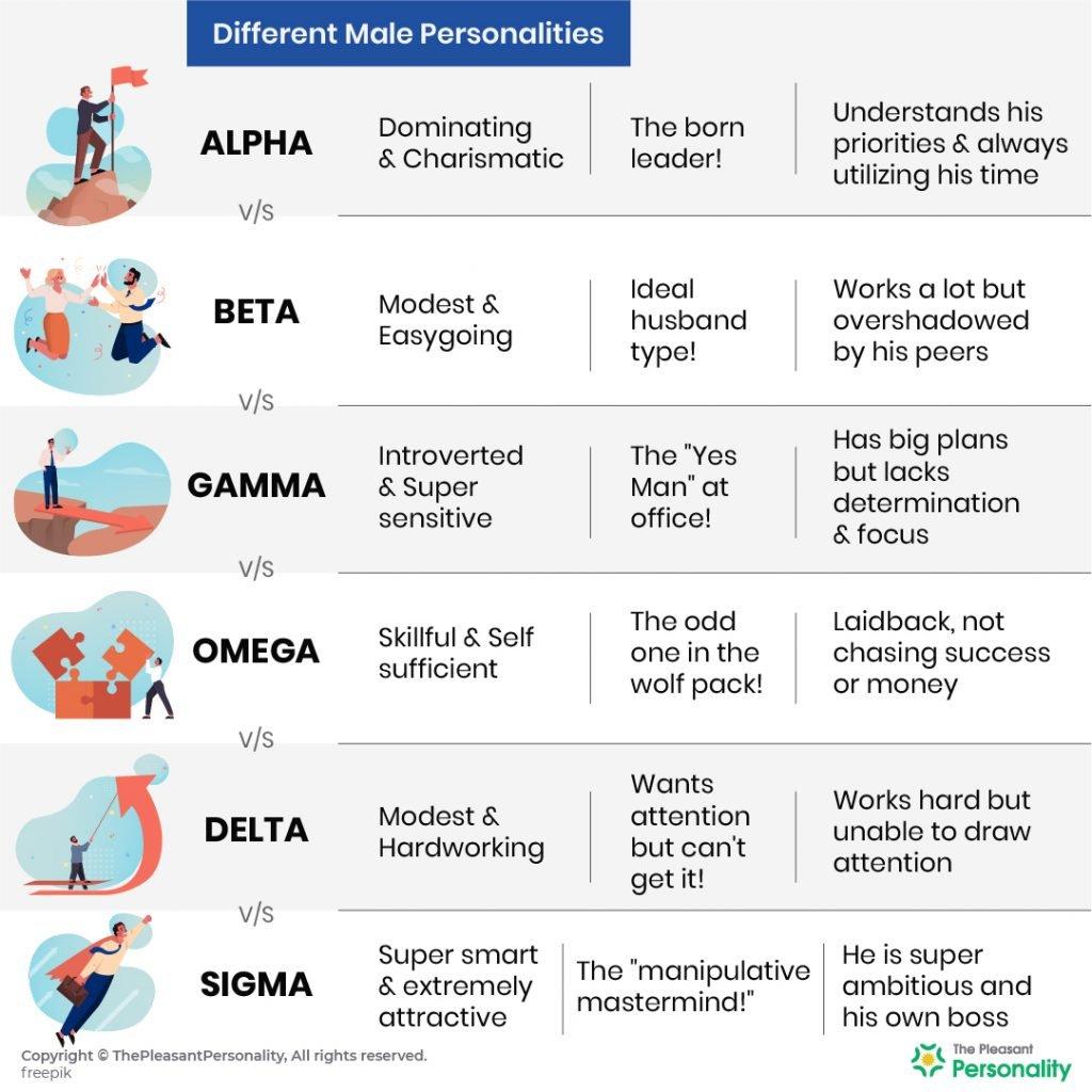 Alpha vs Beta vs Gamma vs Omega vs Delta vs Sigma - Male Personality